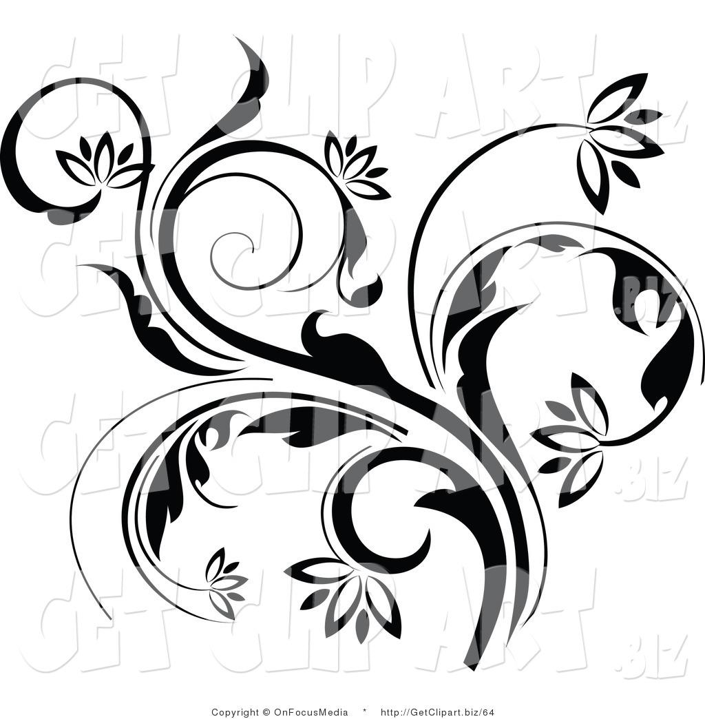 Flower Vine Line Drawing : Flower vines line art pixshark images