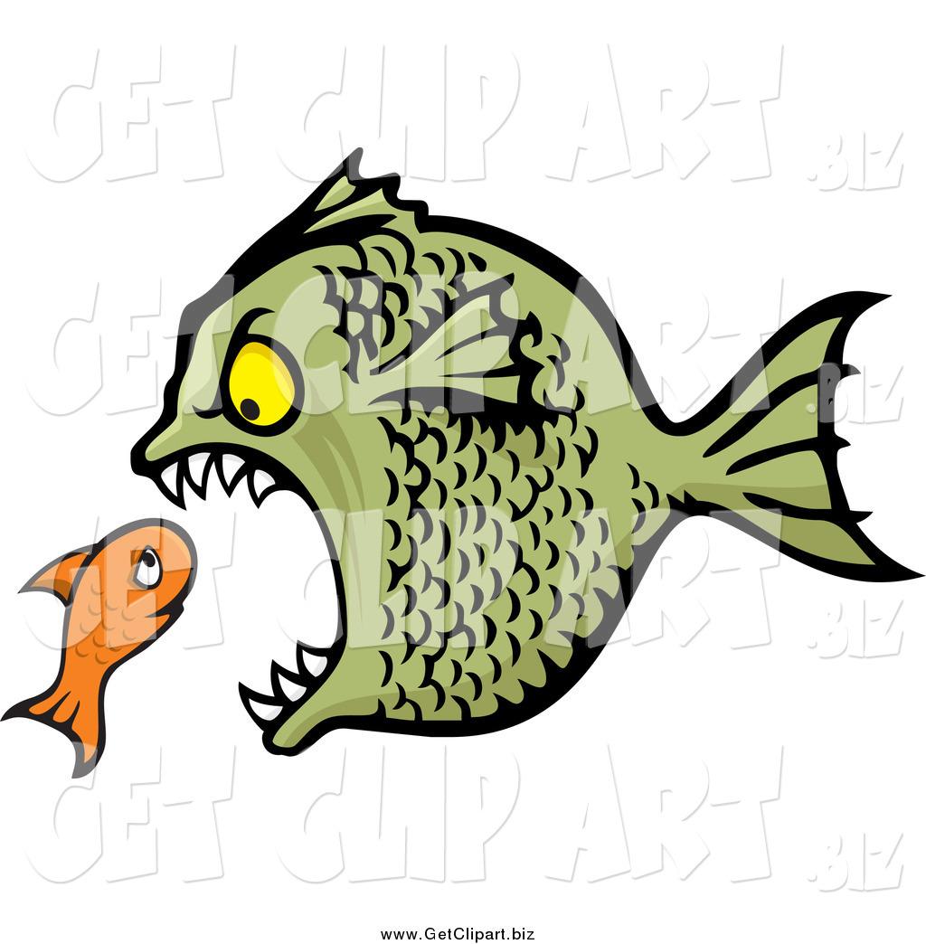Fish Eating Fish Clip Art Clip Art of a Bully Fish