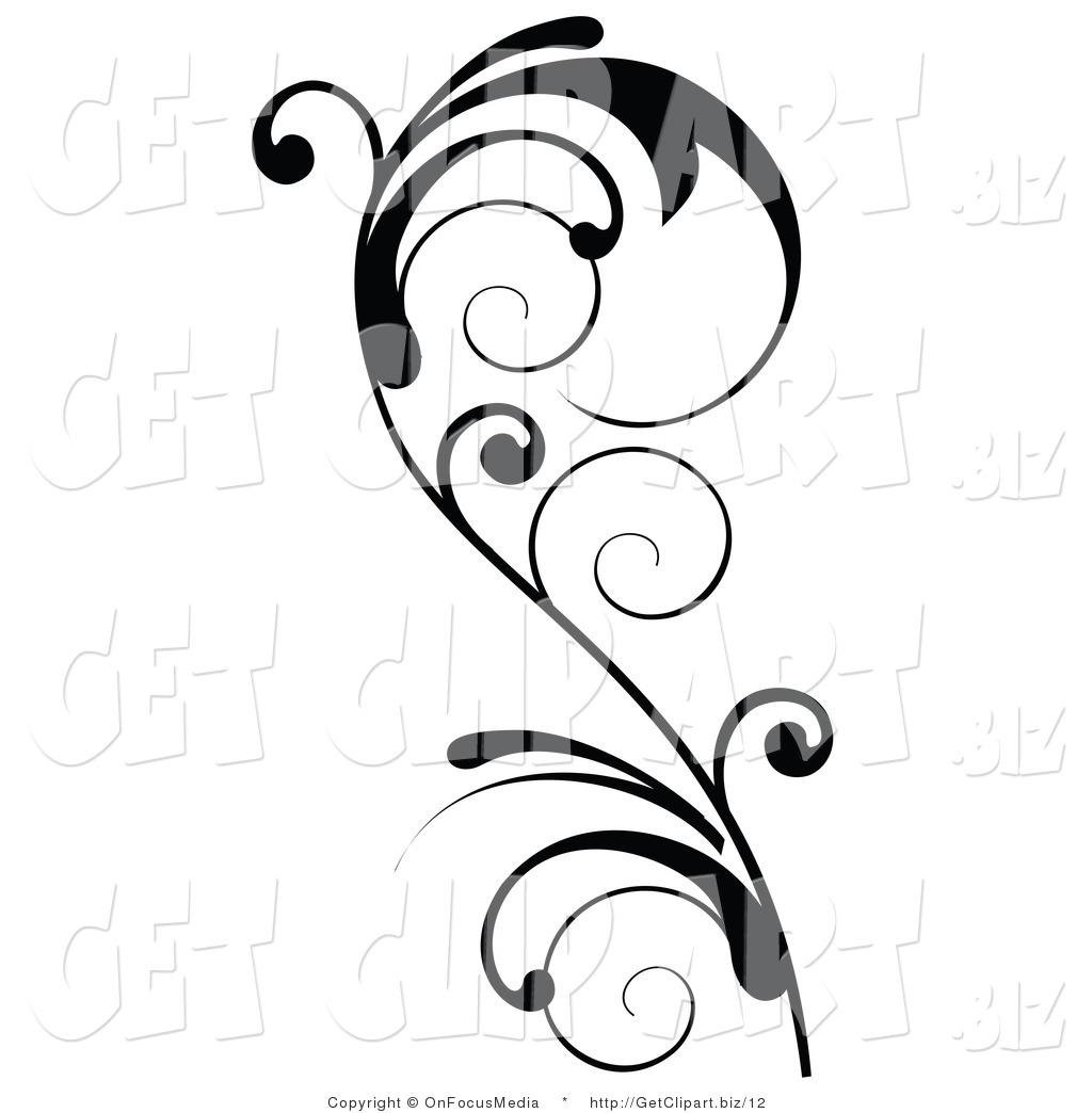Royalty Free Stock Get Designs of Scrolls  Vertical Scrolls Clipart