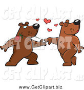 Clip Art of a Bear Couple Dancing by Cory Thoman