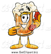 August 13th, 2014: Clip Art of a Beer Mug Holding a Telephone by Toons4Biz