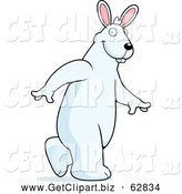 December 4th, 2013: Clip Art of a Big White Rabbit Walking Upright by Cory Thoman