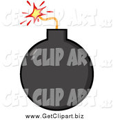 Clip Art of a Black Lit Bomb by Hit Toon