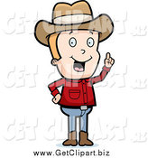 January 19th, 2015: Clip Art of a Blond White Cowboy with an Idea by Cory Thoman