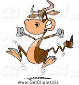 Clip Art of a Bull Having a Cow by Toonaday