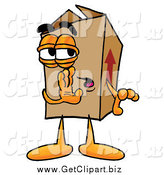 Clip Art of a Cardboard Box Whispering and Gossiping by Toons4Biz