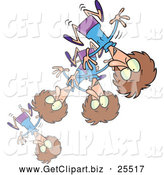November 29th, 2013: Clip Art of a Cartoon Crazy Bouncing Woman by Toonaday