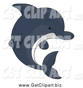 April 19th, 2014: Clip Art of a Cute Dolphin by BNP Design Studio