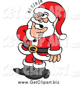 August 4th, 2014: Clip Art of a Doubtful Santa in Thought by Zooco