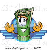October 29th, 2013: Clip Art of a Friendly Green Carpet Mascot Cartoon Character Logo with Blue Lines by Toons4Biz