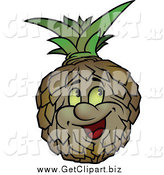 Clip Art of a Happy Pineapple by Dero