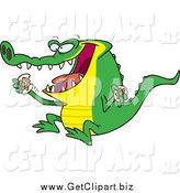 January 16th, 2015: Clip Art of a Hungry Alligator Eating a Donut by Toonaday