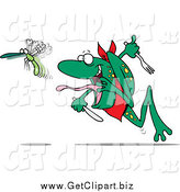 February 20th, 2014: Clip Art of a Hungry Frog Chasing a Bug by Toonaday
