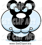 Clip Art of a Mad Panda by Cory Thoman