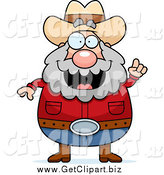 Clip Art of a Plump White Male Prospector with an Idea by Cory Thoman