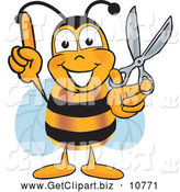 Clip Art of a Smiling Bee Mascot Cartoon Character by Toons4Biz