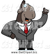 Clip Art of a Talking Smart Ape Businessman by Cory Thoman