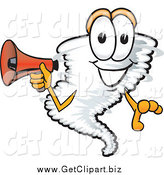 March 5th, 2014: Clip Art of a Tornado Holding a Megaphone by Toons4Biz
