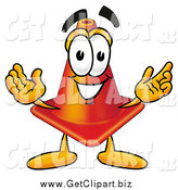 July 29th, 2014: Clip Art of a Traffic Cone Cartoon Character with Welcoming Open Arms by Toons4Biz
