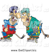 August 17th, 2014: Clip Art of Fighting Hockey Players by Toonaday