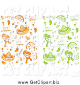 Clip Art of Orange and Green Cinco De Mayo Backgrounds by Cory Thoman