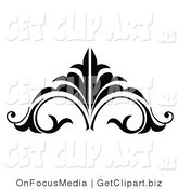 Vector Clip Art of a Black and White Embellishment by OnFocusMedia