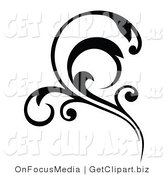 Vector Clip Art of a Flourish by OnFocusMedia