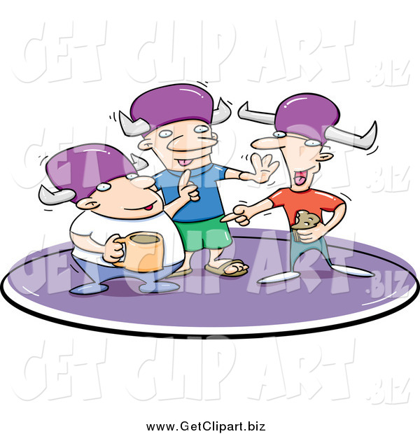 Clip Art of a Three Lodge Brothers Drinking and Talking