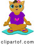 Clip Art of a Cat Meditating by