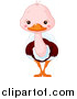 Clip Art of a Cute Baby Ostrich by Pushkin