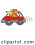 Clip Art of a Cute Brown Dog with Its Head out a Car Window by Toons4Biz