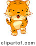 Clip Art of a Cute Tiger Walking by BNP Design Studio