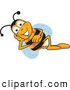 Clip Art of a Friendly Bee Mascot Cartoon Character Resting His Face on His Hand by Toons4Biz