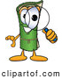 Clip Art of a Friendly Green Carpet Mascot Cartoon Character Looking Through a Magnifying Glass by Toons4Biz