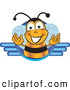 Clip Art of a Happy and Smiling Bee Mascot Cartoon Character Logo by Toons4Biz